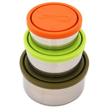 Kids Konserve Round Nesting Trio Containers