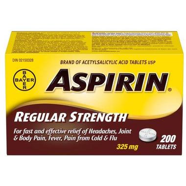 Aspirin 325 mg Regular Strength Tablets Large Bottle