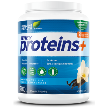 Genuine Health Proteins+ Powder Natural Vanilla