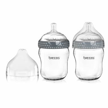 Baby Brezza Large Glass Bottles Duo Grey