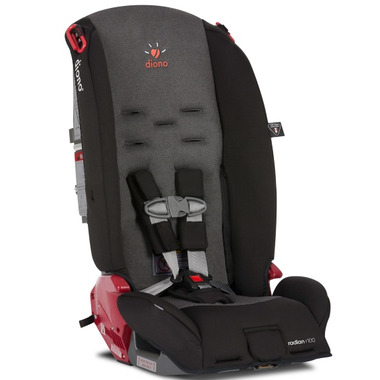 Diono Radian R100 Convertible Booster Car Seat Black Mist