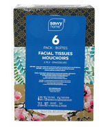 Savvy Home Facial Tissue 2 Ply 6 Pack
