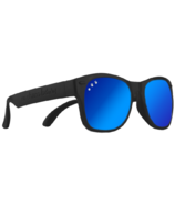 ro sham bo baby Bueller Junior Shades Black and Mirrored Blue