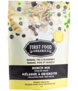 First Food Organics Mélange de pois à grignoter à la banane et aux bleuets