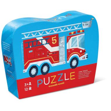 Crocodile Creek 12-Piece Mini Puzzle Fire Truck