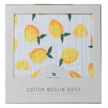 Little Unicorn Muslin Quilt Lemon