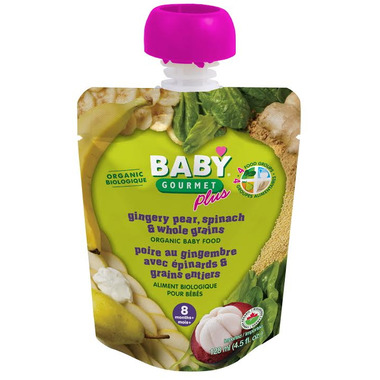 Baby Gourmet Plus Gingery Pear Spinach & Whole Grains