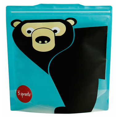 3 Sprouts Sandwich Bags Bear