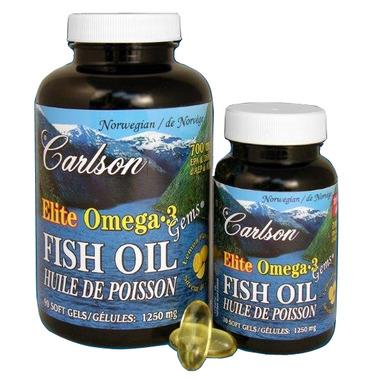 Carlson Elite Omega-3 Fish Oil Gems BONUS PACK