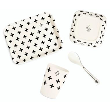 YoungLUX Bamboo Fiber Kids Tableware Gift Set
