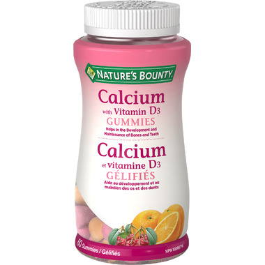 Nature\'s Bounty Calcium with Vitamin D3 Gummies