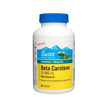 Swiss Natural Sources Beta Carotene 25 000 I.U. with Vitamin D
