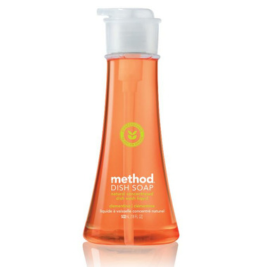 Method Dish Soap Pump in Clementine