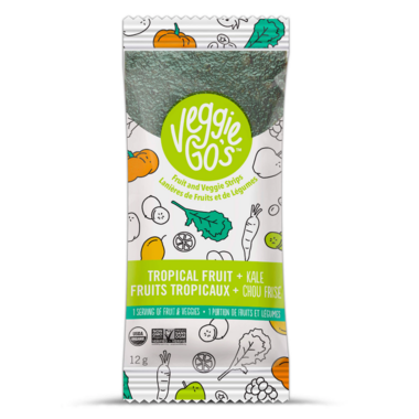 Veggie Go\'s Chewy Fruit and Veggie Strip Tropical Fruit and Kale