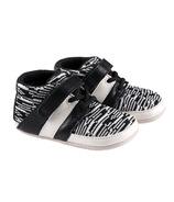 Robeez Mini Shoez Mason Black & White