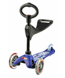 Micro of Switzerland Mini Micro 3-in-1 Deluxe Kickboard Blue