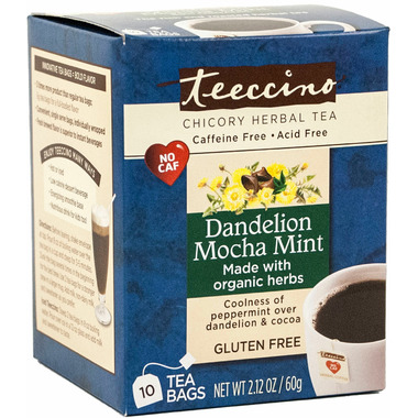 Teeccino Dandelion Mocha Mint Roasted Herbal Tea