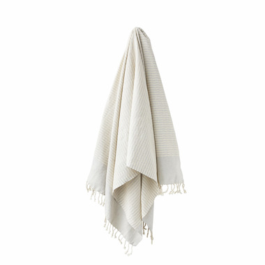 Stray & Wander Coastal Towel Silver Grey