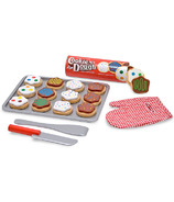 Melissa & Doug Wooden Play Slice and Bake Cookie Set