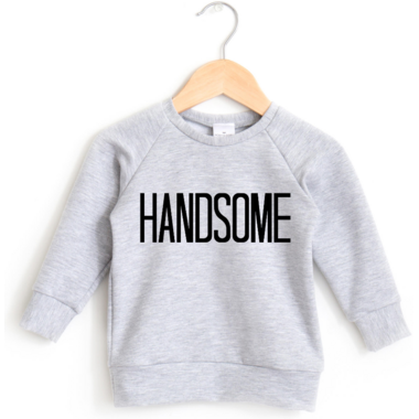 Posh & Cozy Crewneck Sweater Handsome Heather Grey XS-M