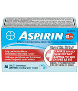 Aspirin 81mg Daily Low Dose Small Bottle