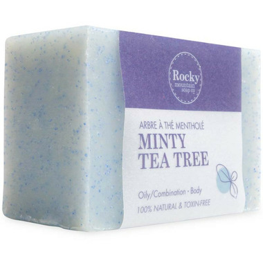 Rocky Mountain Soap Co. Minty Tea Tree Bar Soap