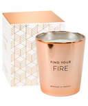 Eccolo Candle Metallic Copper Find Your Fire Bergamot and Tobacco
