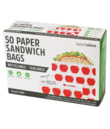 Lunchskins Sealable Paper Sandwich Bags Apple