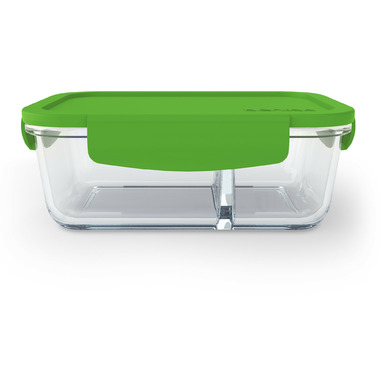 Bentgo Small Glass Container with Leak-Proof Lid Green