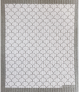 Ten & Co. Swedish Sponge Cloth Scallop White/Grey