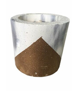 Wax + Fire Co. Soy Candle in Marble with Copper Concrete Planter