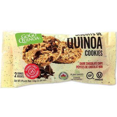 GoGo Quinoa Dark Chocolate Chip Quinoa Cookies