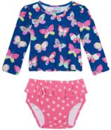 Hatley Bright Butterflies Baby Rashguard Swimsuit