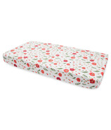 Little Unicorn Brushed Crib Sheet Summer Poppy