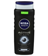 Nivea Men Active Clean Shower Gel Body, Face & Hair