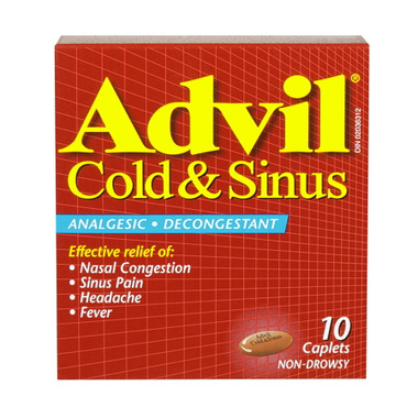 Advil Cold & Sinus Caplets