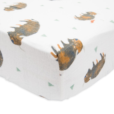 Little Unicorn Brushed Crib Sheet Bison