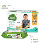 Seventh Generation Diaper & Wipes Bundle Size 2