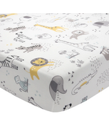 Lambs & Ivy Animal Jungle Soft 100% Cotton Jersey Baby Fitted Crib Sheet