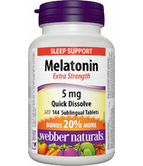 Webber Naturals Melatonin Extra Strength Tablets Bonus Size