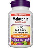 Webber Naturals Melatonin Extra Strength Comprimés Bonus Size