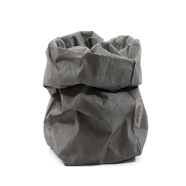 UASHMAMA Paper Bag Piccolo Dark Grey