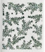 Ten & Co. Swedish Sponge Cloth Juniper Green on White