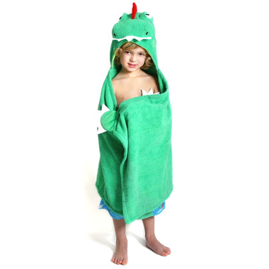 ZOOCCHINI Toddler Hooded Towel Devin The Dinosaur