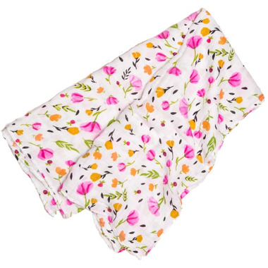Little Unicorn Cotton Muslin Swaddle Blanket Berry & Bloom