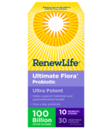 Renew Life Ultimate Flora Ultra Potent 100 Billion Active Cultures