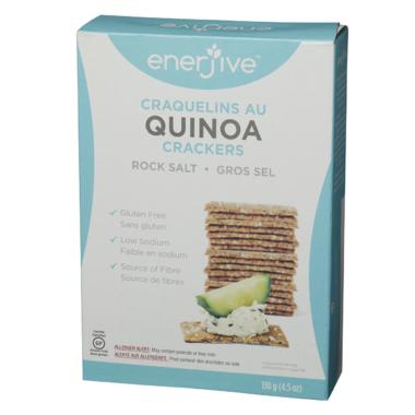 Enerjive Quinoa Crackers Rock Salt