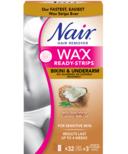 Nair Wax Ready-Strips with Nourishing Coconut Milk Oil