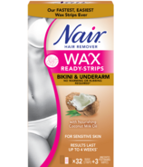 Nair Wax Ready-Strips with Nourishing Coconut Milk Oil