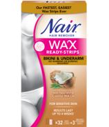 Nair Wax Ready-Strips à l'huile nourrissante de lait de coco